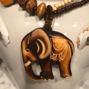 🆕 NWT XL Elephant Necklace Long Sweater Chain